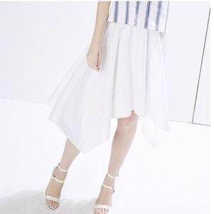 Rebecca Minkoff white Jackie asymmetric skirt